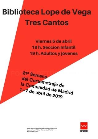 Tres Cantos sede de la 21ª edición de la Semana del Cortometraje de la Comunidad de Madrid