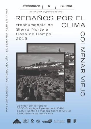 La trashumancia 'Rebaño por el Clima' recorrerá Colmenar Viejo el viernes 6 de diciembre