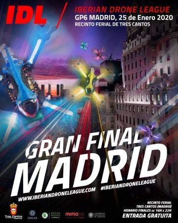 Este sábado 25 de enero, en el Recinto Ferial de Tres Cantos, se celebra la gran final de la primera liga de carreras de drones de España y Portugal