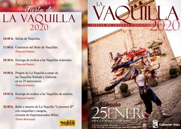 Colmenar Viejo celebra su tradicional fiesta de La Vaquilla el sábado 25 de enero