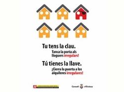 El Consell d'Eivissa pide la colaboración ciudadana para combatir el fenómeno del alquiler turístico irregular.