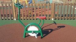 Instalados nuevos elementos y máquinas para la práctica de deporte en el parque de es Viver