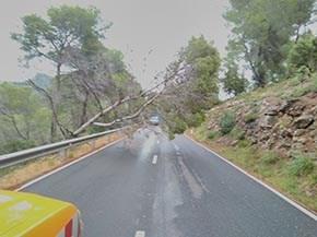 Normalidad en la red viaria de Eivissa, superado el episodio de lluvias intensas