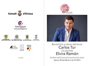 El Cicle Dies Musicals presenta este jueves un recital lírico a cargo del tenor Carlos Tur y la pianista Elvira Ramón