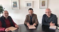 Firma de los convenios con la Asociación Amadiba y con la Plataforma Sociosanitaria