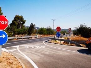 El Consell d'Eivissa mejora la seguridad en la ronda de ses Païsses y en la travesía de Sant Antoni
