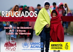 El 15 de diciembre ACNUR y Amnistía Internacional informarán a los vecinos sobre la situación de los refugiados
