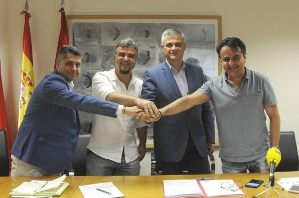 PSOE, IUCM-LV y Ganar Móstoles alcanzan un acuerdo de gobierno en Móstoles