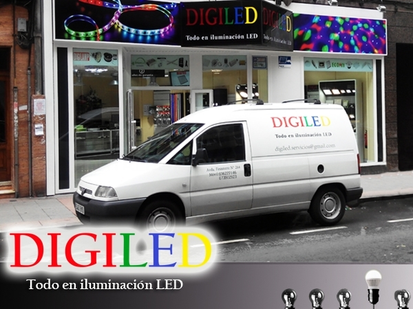 Digiled: suministros de iluminación  LED, en A Coruña