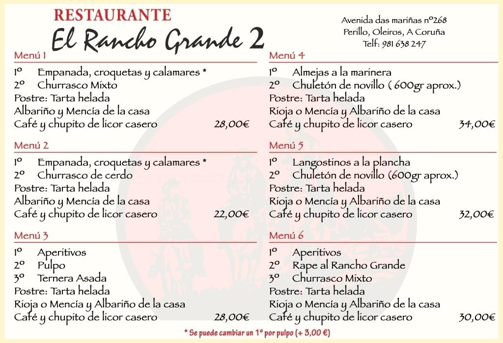 PARRILLADA EN CORUÑA. PARRILLADA EN OLEIROS. RESTAURANTE EL RANCHO GRANDE 2 OLEIROS