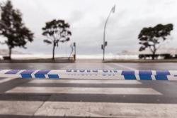 O concello pecha o acceso as praias por alerta laranxa