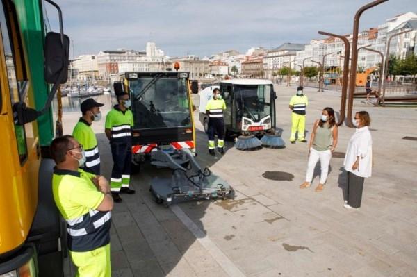 Desinfección da cidade da Coruña