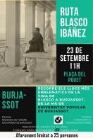 BLASCO IBáñEZ SE CONVIERTE EN EL PROTAGONISTA CULTURAL DEL FIN DE SEMANA EN BURJASSOT