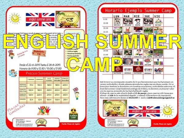 Academia de verano en ingles