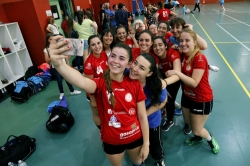 El equipo femenino de balonmano Puçol-Morvedre, campeón de Copa