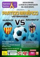 Veteranos del Valencia CF y del Burjassot CF jugarán a favor de la investigación en el cáncer infantil