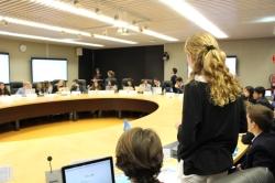 Alumnos de American School of Valencia debaten con estudiantes internacionales sobre sostenibilidad