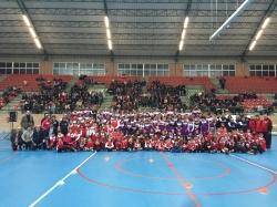 Un abarrotado Pabellón Cubierto acoge la presentación de los equipos del Club Andros Burjassot CB