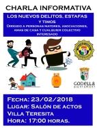 LA POLICIA LOCAL DE GODELLA OFRECERA UNA CHARLA INFORMATIVA SOBRE ESTAFAS EL 23 DE FEBRERO