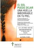 REVISION GRATUITA DE LA PIEL DE LA MANO DE LA JUNTA LOCA CONTRA EL CANCER DE BURJASSOT