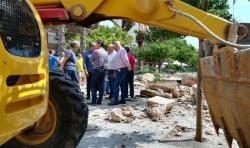 Burjassot inicia las tareas de retirada de materiales y consolidación del muro del Patio de Los Silos