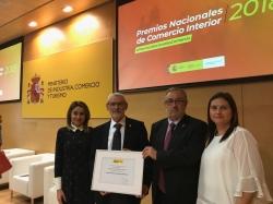 Alboraya recibe la mención de honor de los Premios Nacionales de Comercio Interior 2018