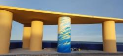 El artista internacional Patricio Forrester estará pintando un mural en el Mirador de la Patacona, en Alboraya.