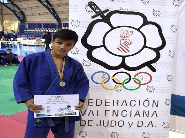 José Abril Sanz, campeón de la Liga Escolar de Judo