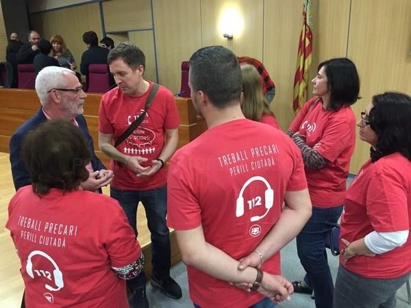 El pleno del Ayuntamiento de Alboraya apoya de forma unánime la mejora en las condiciones laborales de la plataforma 112-CV