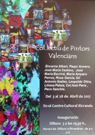 La exposición 'Colectivo pintores valencianos' llega el lunes 3 a Godella