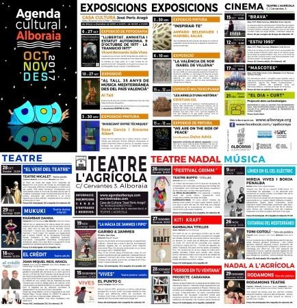 Alboraya presenta la programación cultural del último semestre de 2017