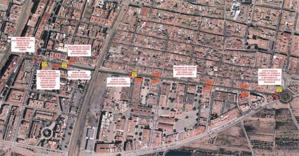 Las obras en el paso subterráneo de la calle Caminás de Puçol causarán desvíos el lunes y el martes