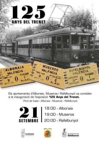 Alboraya, Museros y RafelbuNYol celebran el 125 aniversario del 'Trenet'