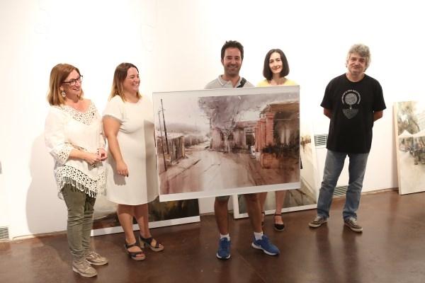 Gonzalo Romero gana el XV concurso de pintura rápida retratando por primera vez el matadero en Godella