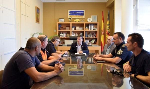 Reunión técnica en Burjassot para la coordinación de emergencias ante la previsión de lluvias intensas