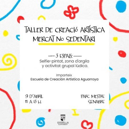 Godella organiza un Taller de Creación Artística gratuito para niñas y niños en el Mercat No Sedentari