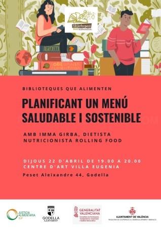 """La nutricionista Imma Girba impartirá el taller """"Planificant un menú saludable i sostenible"""" en Godella"""