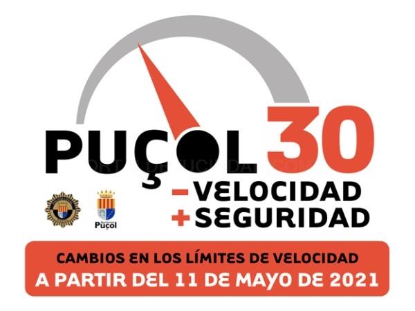 A partir del 11 de mayo, Puçol a 30: menos velocidad y más seguridad