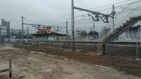 Las obras de soterramiento obligan a cortar temporalmente la circulación entre las estaciones de Empalme y Burjassot de la Línea 1 de Metrovalencia