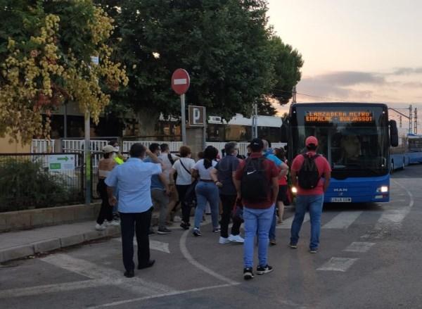 Ferrocarrils de la Generalitat comienza a prestar servicio alternativo de autobús entre las estaciones de Empalme y Burjassot de Metrovalencia