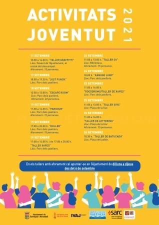 Bonrepòs i Mirambell celebrará multitud de actividades dirigidas a la juventud del 11 al 26 de septiembre
