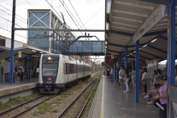 Ferrocarrils de la Generalitat restablece el servicio ferroviario entre las estaciones de Empalme y Burjassot de Metrovalencia