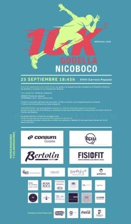 La 10K Godella Nicoboco regresa el sábado, 25 de septiembre