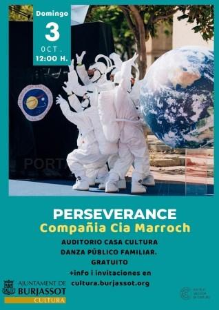 """Llega """"PERSEVERANCE"""" a Burjassot, un espectáculo gratuito de danza familiar con el bailarín y coreográfo burjassotense, Salvador Rocher"""