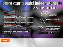 Torneo express Padel Indoor Axarquía