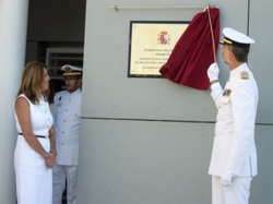La presidenta de la Junta acompaña al Rey en la inauguración del Edificio de la Hora de San Fernando
