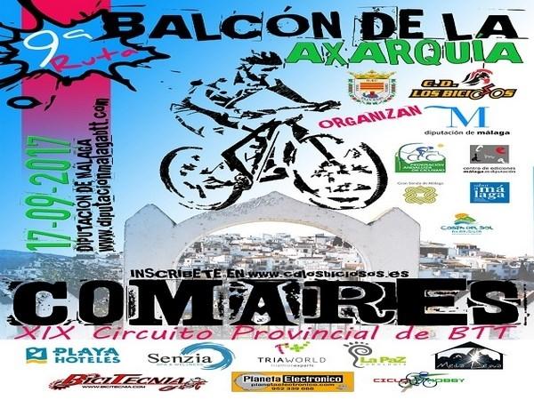 Cerca de 300 ciclistas se darán cita en Comares para participar en la IX ruta cicloturista Balcón de la Axarquía