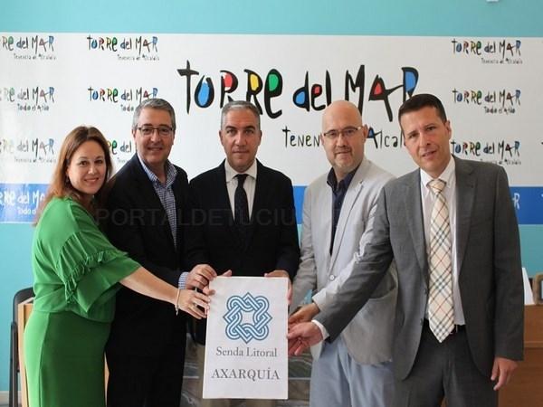 La Diputación invierte 1,5 millones de euros para el avance de la Senda Litoral en la Axarquía