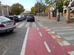 C's Alcalá reclama seguridad para todos C's Alcalá en el carril bici