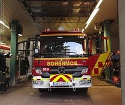 Fuego en la sauna de un polideportivo en Coslada.